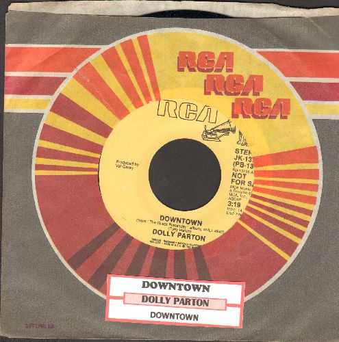 Parton, Dolly - Downtown (double-A-sided DJ advance pressing, EXCELLENT updated version of the Petula Clark Classic!)(with juke box label) - NM9/ - 45 rpm Records