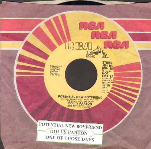 Parton, Dolly - Potential New Boyfriend/One Of Those Days (DJ advance pressing with juke box label and RCA company sleeve) - NM9/ - 45 rpm Records