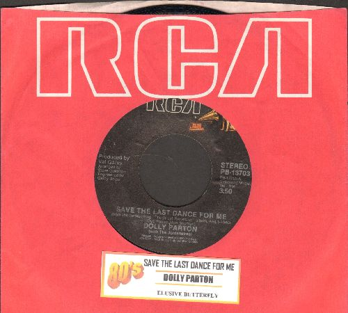 Parton, Dolly - Save The Last Dance For Me/Elusive Butterfly (with RCA company sleeve and juke box label) - NM9/ - 45 rpm Records