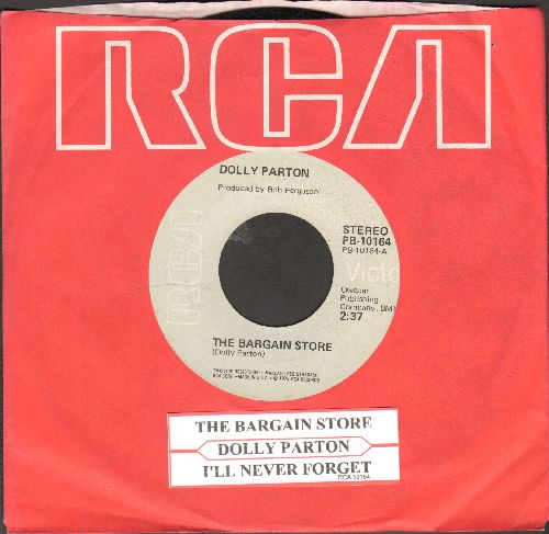 Parton, Dolly - The Bargain Store/I'll Never Forget (gary label pressing with RCA company sleeve and juke box label) - EX8/ - 45 rpm Records