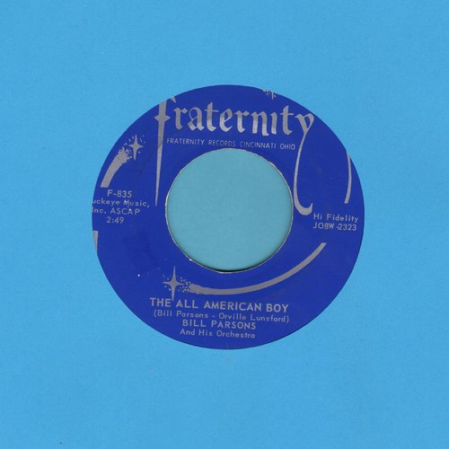 Parsons, Bill - The All American Boy/Rubber Dolly (with juke box label) - EX8/ - 45 rpm Records