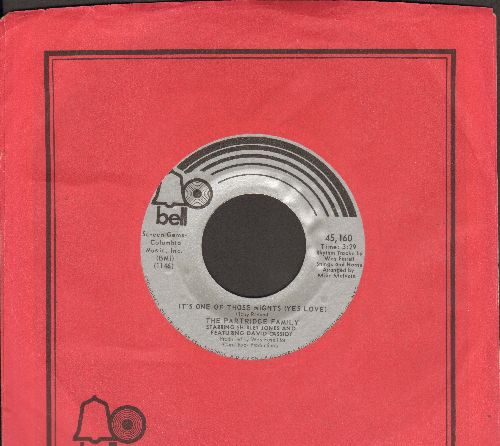 Partridge Family - It's One Of Those Nights (Yes Love)/One Night Stand (with Bell company sleeve) - EX8/ - 45 rpm Records
