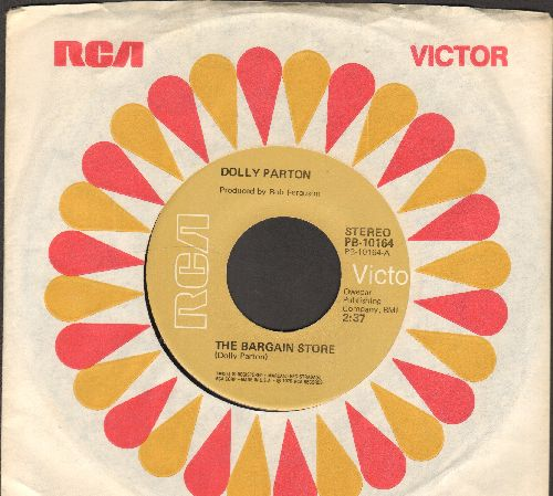 Parton, Dolly - The Bargain Store/I'll Never Forget (with RCA company sleeve) - NM9/ - 45 rpm Records