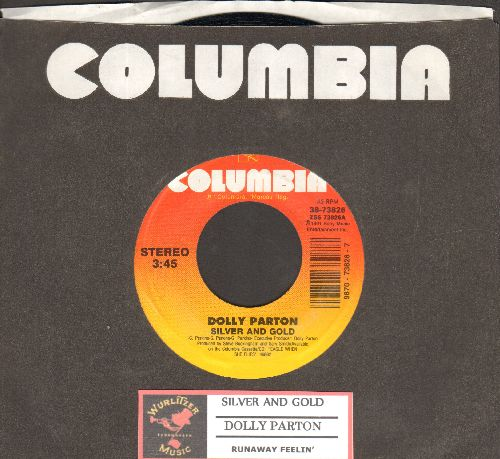 Parton, Dolly - Silver And Gold/Runaway Feelin' (with juke box label and Columbia company sleeve) - NM9/ - 45 rpm Records