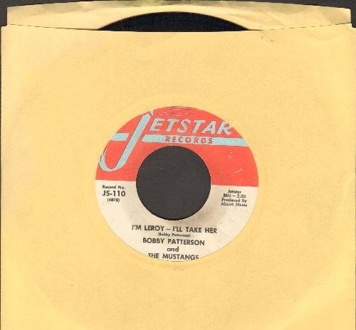 Patterson, Bobby & The Mustangs - Sock Some Lovin' At Me/I'm Leroy - I'll Take Her (FANTASTIC 60s Soul 2-sider!) - NM9/ - 45 rpm Records