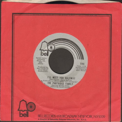 Partridge Family - I'll Meet You Halfway/Morning Rider On the Road  (with Bell company sleeve) - EX8/ - 45 rpm Records