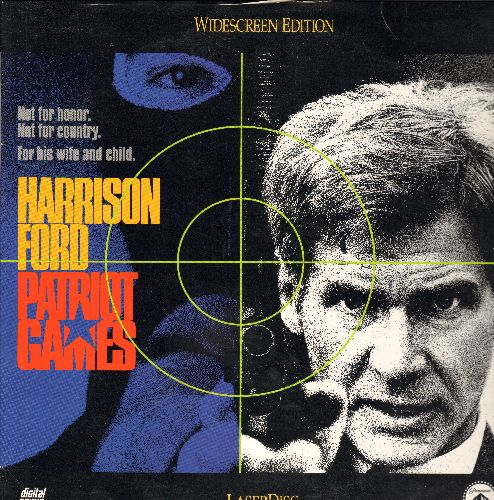 Patriot Games - Patriot Games LASERDISC starring Harrison Ford - NM9/EX8 - LaserDiscs
