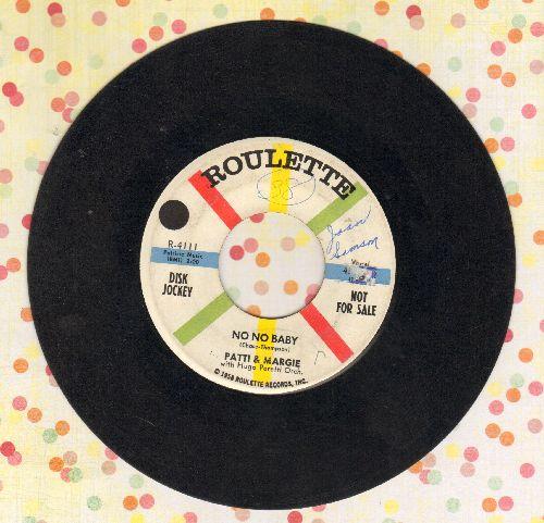 Patti & Margie - No No Baby/Sentimental Journey - VG6/ - 45 rpm Records