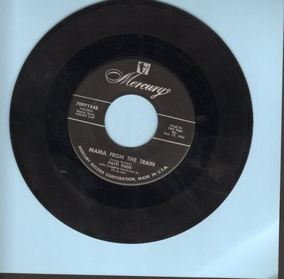 Page, Patti - Mama From The Train/Every Time I Feel His Spirit (with juke box label) - VG7/ - 45 rpm Records