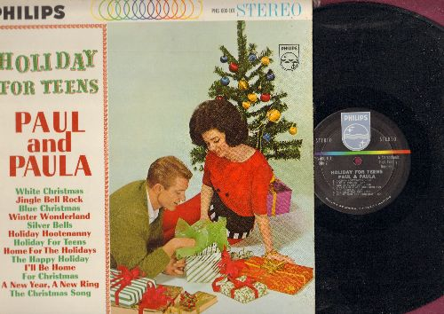Paul & Paula - Holiday For Teens: Jingle Bell Rock, Winter Wonderland, Holiday Hootenanny, A New Year - A New Ring, Home For The Holidays, Blue Christmas (Vinyl STEREO LP record) - NM9/EX8 - LP Records