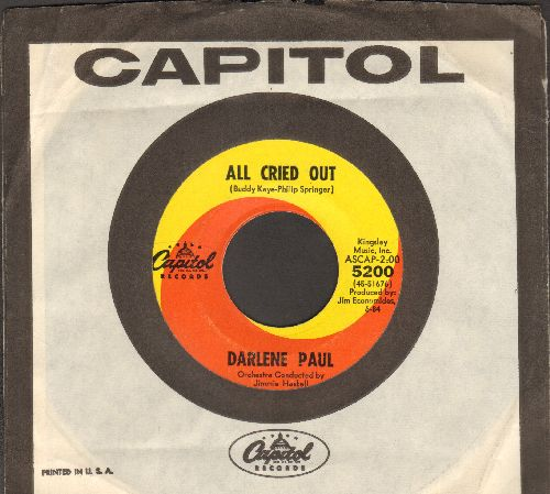 Paul, Darlene - All Cried Out/This Is My Prayer (with vintage Capitol company sleeve) - EX8/ - 45 rpm Records