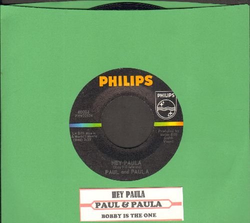 Paul & Paula - Hey Paula/Bobby Is The One  - NM9/ - 45 rpm Records
