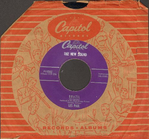 Paul, Les - Brazil/What Is This Thing Called Love (with vintage Capitol company sleeve, upper sleeve corner price tage torn off) - EX8/ - 45 rpm Records
