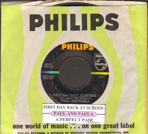 Paul & Paula - First Day Back At School/A Perfect Pair (bb) - NM9/ - 45 rpm Records
