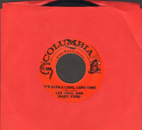 Paul, Les & Mary Ford - It's Been A Long, Long Time/Jura (I Swear I Love You) (wol) - EX8/ - 45 rpm Records