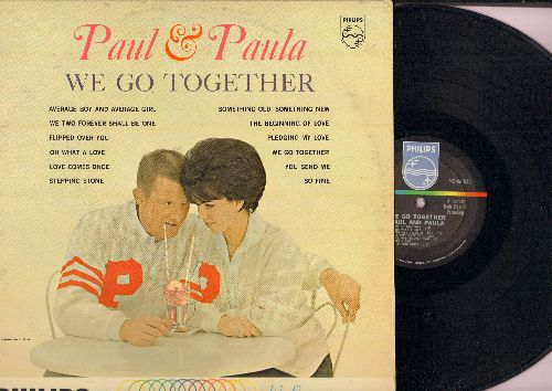 Paul & Paula - We Go Together: Flipped Over You, So Fine, Love Comes Once, You send Me, Pledging My Love (vinyl MONO LP record) - EX8/VG7 - LP Records