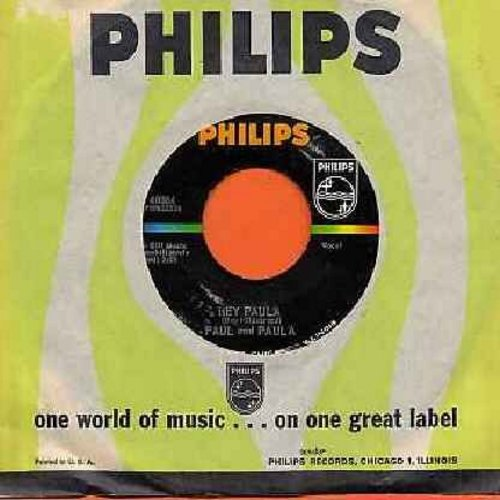 Paul & Paula - Hey Paula/Bobby Is The One (with Philips company sleeve and juke box label) - NM9/ - 45 rpm Records