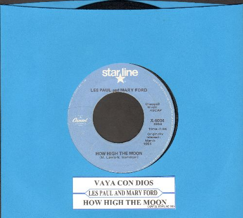 Paul, Les & Mary Ford - Vaya Con Dios/How High The Moon (double-hit re-issue with juke box label) - EX8/ - 45 rpm Records