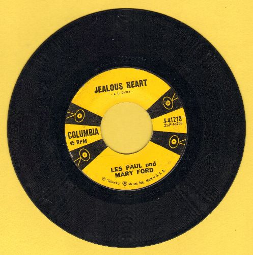 Paul, Les & Mary Ford - Jealous Heart (Blaue Nacht am Hafen)/Big Eyed Gal - EX8/ - 45 rpm Records