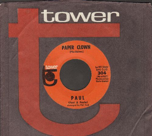 Paul - Paper Clown/Patsy (with RARE Tower company sleeve) - VG7/ - 45 rpm Records