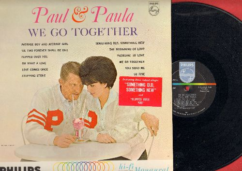 Paul & Paula - We Go Together: Flipped Over You, So Fine, Love Comes Once, You send Me, Pledging My Love (Vinyl MONO LP record) - NM9/NM9 - LP Records