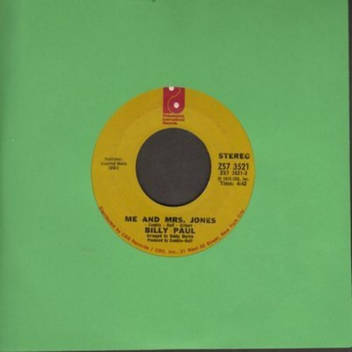 Paul, Billy - Me And Mrs. Jones (We Got A Thing Goin' On)/Your Song (with juke box label) - VG6/ - 45 rpm Records