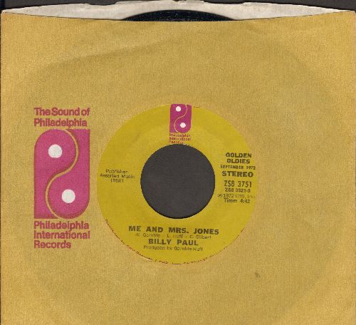 Paul, Billy - Me And Mrs. Jones (We Got A Thing Goin' On)/Your Song (with company sleeve) - EX8/ - 45 rpm Records