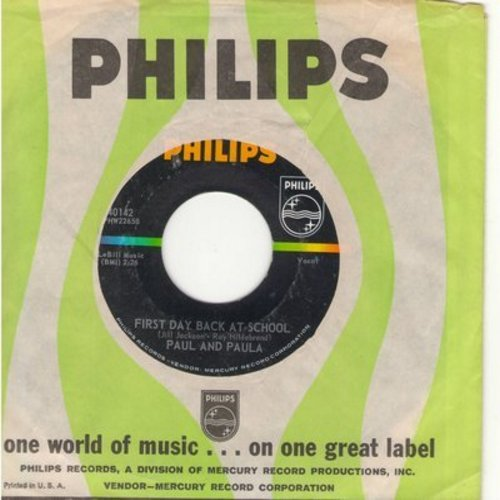 Paul & Paula - First Day Back At School/A Perfect Pair (bb) - EX8/ - 45 rpm Records