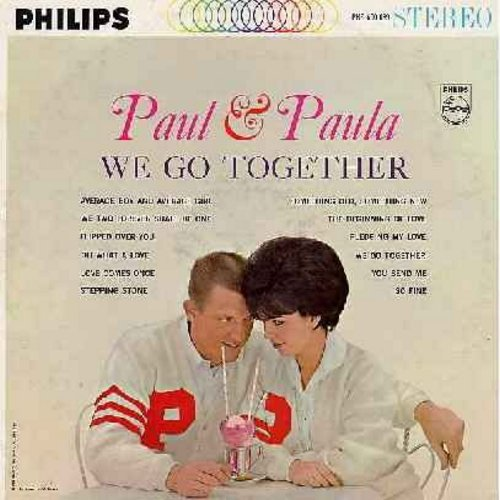Paul & Paula - We Go Together: Flipped Over You, So Fine, You send Me, Pledging My Love (Vinyl STEREO LP record) (soc) - NM9/EX8 - LP Records