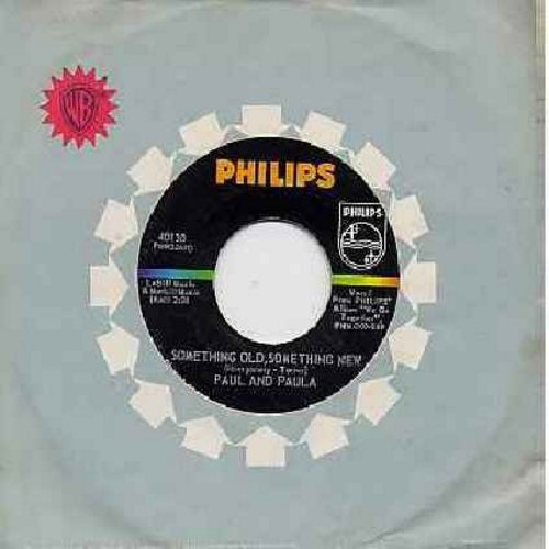 Paul & Paula - Something Old, Something New/Flipped Over You (with philips company sleeve)(minor wol) - NM9/ - 45 rpm Records
