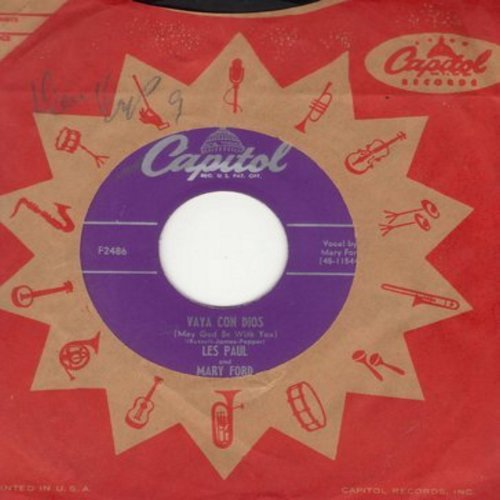Paul, Les & Mary Ford - Vaya Con Dios/Johnny (Is The Boy For Me) (with vintage Capitol company sleeve) - EX8/ - 45 rpm Records