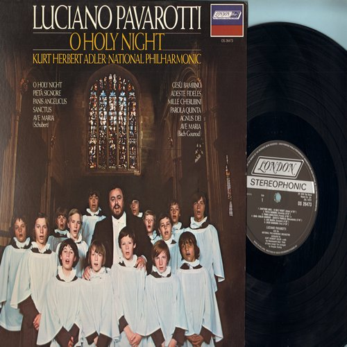 Pavarotti, Luciano - O Holy Night: Ave Maria, Adeste Fidele, Agnus Dei, Mille Cherunini (Vinyl STEREO LP record) - NM9/NM9 - LP Records
