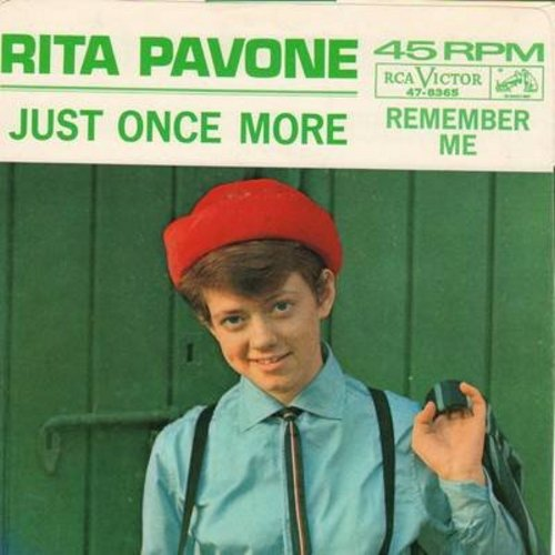 Pavone, Rita - Remember Me/Just Once More (with picture sleeve and juke box label) - EX8/VG7 - 45 rpm Records