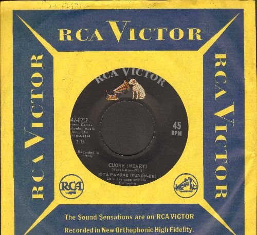 Pavone, Rita - Cuore (Heart)/Il Ballo De Matone (MINT condition with RCA company sleeve) - M10/ - 45 rpm Records