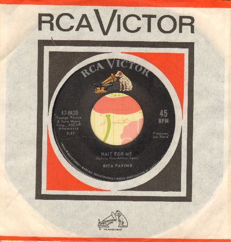 Pavone, Rita - Wait For Me/It's Not Easy (with vintage RCA company sleeve) - NM9/ - 45 rpm Records