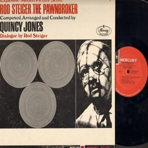 Jones, Quincy - The Pawnbroker - Explosive Motion Picture Score, composed, arranged and conducted by Quincy Jones, dialogue by Rod Steiger, includes vocal title song by Marc Allen (Vinyl MONO LP record) - EX8/VG7 - LP Records