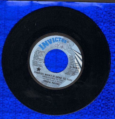 Payne, Freda - Cherish What Is Dear To You (While It's Near To You)/The World Don't Owe You A Thing - NM9/ - 45 rpm Records