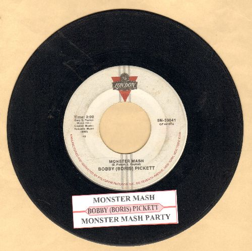 Pickett, Bobby (Boris) & The Crypt Kickers - Monster Mash/Monster Mash Party (re-issue with juke box label) - VG6/ - 45 rpm Records