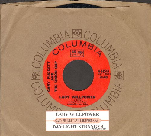 Puckett, Gary & The Union Gap - Lady Willpower/Daylight Stranger (with company sleeve and juke box label) - NM9/ - 45 rpm Records