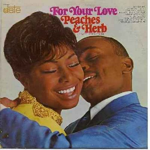 Peaches & Herb - For Your Love: Embraceable You, Everybody Loves A Lover, I Love How You Love Me, Answer Me My Love, Count On Me (Vinyl MONO LP record) - EX8/EX8 - LP Records