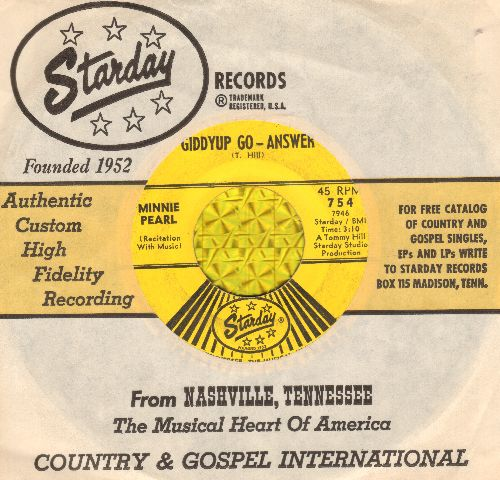 Pearl, Minnie - Giddyup Go - Answer/Road Runner (with Starday company sleeve) - VG7/ - 45 rpm Records