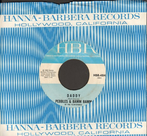 Pebbles & Bam Bam Of The Flintstones - The World Is Full Of Joys/Daddy (with RARE vintage HBR company sleeve) - NM9/ - 45 rpm Records