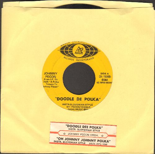 Pecon, Johnny Orchestra - Doodle Dee Polka/Oh Johnny, Johnny Polka (with juke box label) - VG7/ - 45 rpm Records
