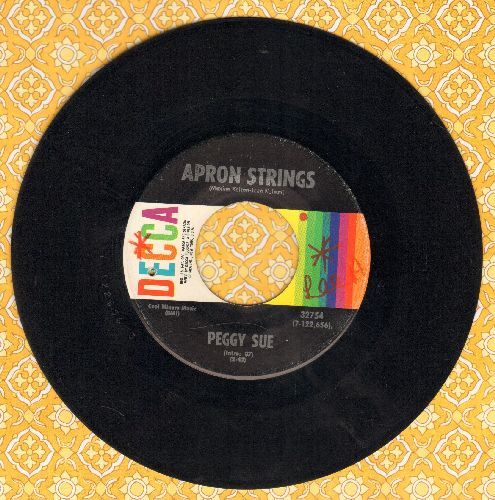 Peggy Sue - Apron Strings/You're Leavin' Me For Her Again (minor wol) - VG7/ - 45 rpm Records