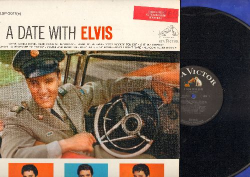 Presley, Elvis - A Date With Elvis: Blue Moon Of Kentucky, Milkcow Blues Boogie, I Want To Be Free, Baby Let's Play House (vinyl LP record, STEREO Enhanced 1965 pressing of vintage recordings) - EX8/NM9 - LP Records