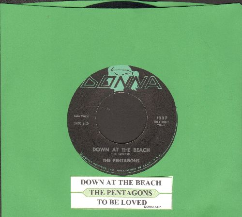Pentagons - Down At The Beach/To Be Loved (Forever) (with juke box label) - VG7/ - 45 rpm Records