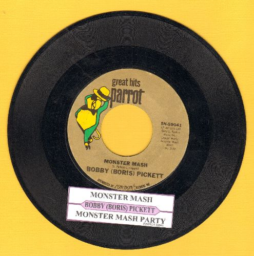 Pickett, Bobby (Boris) & The Crypt Kickers - Monster Mash/Monster Mash Party (Parrot label re-issue with juke box label) - VG7/ - 45 rpm Records
