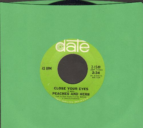Peaches & Herb - Close Your Eyes/I Will Watch Over You  - EX8/ - 45 rpm Records