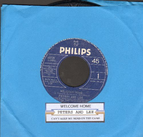 Peters & Lee - Welcome Home/Can't Keep My Mind On The Game (with juke box label) - NM9/ - 45 rpm Records