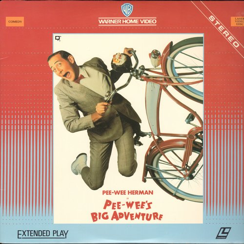 Pee-Wee's Big Adventure - Laser Disc Version of the Cult Classic starring Paul Reubens as Pee-Wee Herman (This is a LASER DISC, not any other kind of media!) - NM9/EX8 - Laser Discs